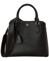 Tory Burch Robinson Leather Tote - Black