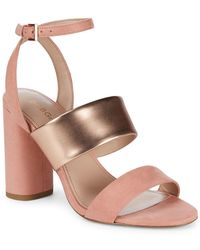 BCBGeneration - Farryn Micro Block Heel Sandals - Lyst