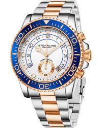 Stuhrling Original Men's Aquadiver Watch - Blue