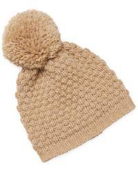 Portolano - Ribbed Pom Hat - Lyst