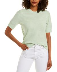 Club Monaco Boxy Slub Silk T-shirt - Green