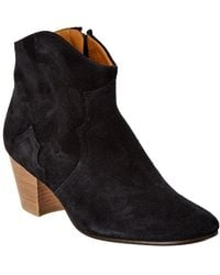 Isabel Marant Dicker Suede Ankle Boot - Black