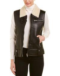 Walter Baker Lisa Leather Vest - Black