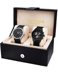August Steiner Akribos Xxiv Men's Set Of Two Watches - Multicolour