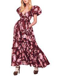 LoveShackFancy Ida Maxi Dress - Red