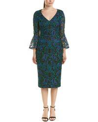 Carmen Marc Valvo Midi Dress - Blue