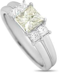 Heritage Platinum 1.47 Ct. Tw. Diamond Ring - Metallic