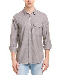 Save Khaki United Chambray Work Shirt - Gray
