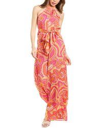 Trina Turk Thea Silk-blend Jumpsuit - Pink
