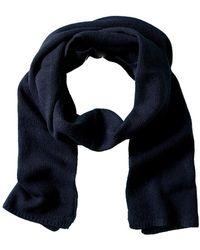 Portolano Cashmere Knitted Scarf - Blue