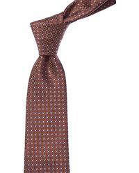 Canali Orange Circles Silk Tie