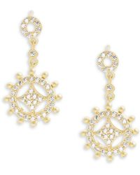 Freida Rothman - Classic Cubic Zirconia, Mother-of-pearl & 14k Gold-plated Sterling Silver Drop Earrings - Lyst