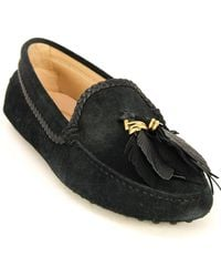 Tod's Tod?s Gommino Suede Moccasin - Black