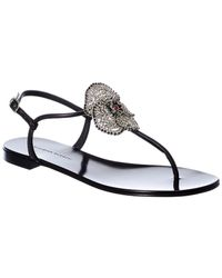 Giuseppe Zanotti Leather Sandal - Black