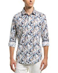 Robert Graham Abrell Classic Fit Woven Shirt - Blue