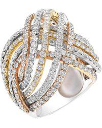 Diana M. Jewels - . Fine Jewellery 18k Tri-tone 6.15 Ct. Tw. Diamond Ring - Lyst