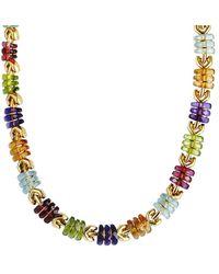 BVLGARI Bulgari 18k Gemstone Necklace - Metallic