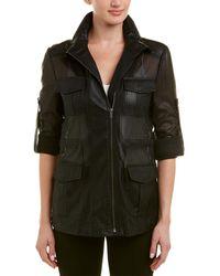 BCBGMAXAZRIA Bronnen Perforated Jacket - Black