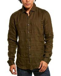 Reiss Doddy Slim Fit Linen Shirt - Multicolor