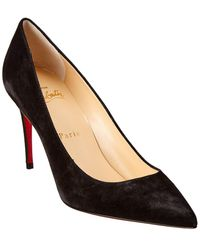 Christian Louboutin Kate 85 Suede Pump - Black