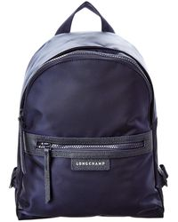 Longchamp Le Pliage Neo Small Canvas Backpack - Blue
