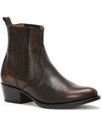 Frye Diana Chelsea Leather Bootie - Brown