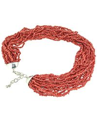Arthur Marder Fine Jewelry - Silver Red Coral Necklace - Lyst