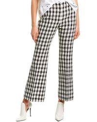 Derek Lam Gingham Cotton-blend Flared Pants - Black