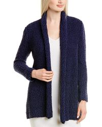 St. John Wool-blend Cardigan - Blue