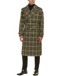Burberry Reversible Tropical Gabardine Coat - Green