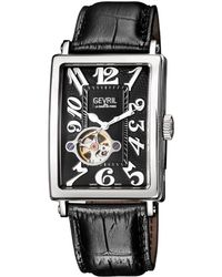 Gevril Watches Avenue Of Americas Intravedre Open Heart Automatic Watch, 44mm - Black
