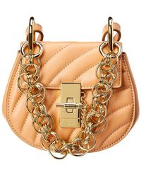 Chloé Drew Nano Bijou Leather Shoulder Bag - Orange