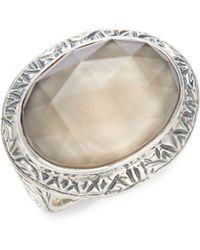 Stephen Dweck - Mother-of-pearl, Quartz And 925 Sterling Silver Ring - Lyst