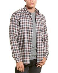 Theory Betton Check Woven Shirt - Multicolor