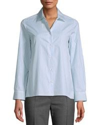 Max Mara Weekend Brunner Striped Shirt - Blue