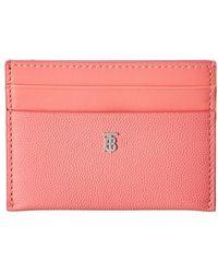 Burberry Sandon Monogram Motif Leather Card Case - Pink