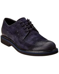 Tod's Suede Oxford - Blue