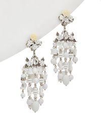 DANNIJO - Silver Plated Resin Drop Earrings - Lyst