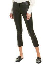 Theory Classic Leather Skinny Pant - Black