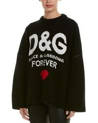 Dolce & Gabbana Cashmere D&g Forever Sweater - Black