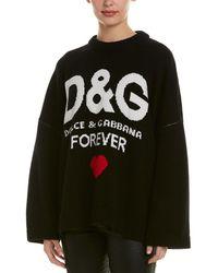 Dolce & Gabbana Cashmere D&g Forever Jumper - Black