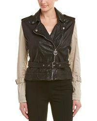 Pinko Leather Jacket - Black