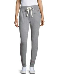 Peace Love World Textured Jogger Trousers - Gray