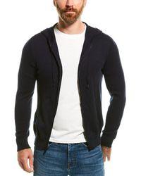 NAADAM Full Zip Cashmere-blend Hoodie - Blue