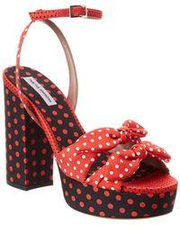 Tabitha Simmons Jodie Platform Sandal - Red