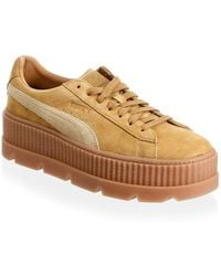 PUMA - Men's Suede Cleated Creeper Low-top Trainers - Lyst