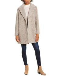 Cinzia Rocca Medium Wool-blend Coat - Brown
