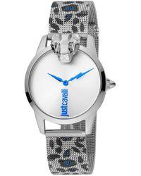 Just Cavalli Animal Quartz Silver Dial Ladies Watch - Metallic