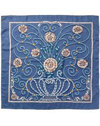 "Hermès ""jouvence,"" By Leila Menchari Silk Scarf - Blue"