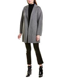 Vince Belted Wool-blend Cardigan Coat - Grey